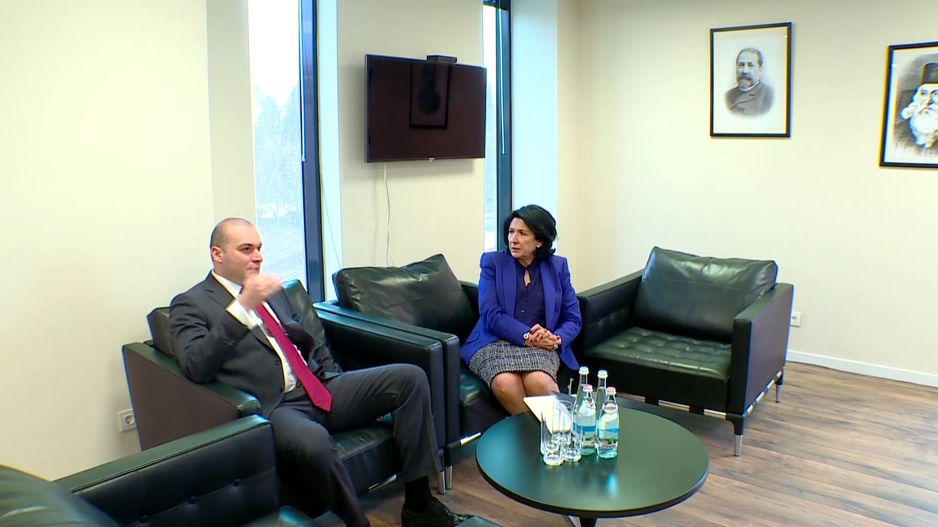 პრეზიდენტისა და პრემიერ-მინისტრის პირველი სამუშაო შეხვედრა
