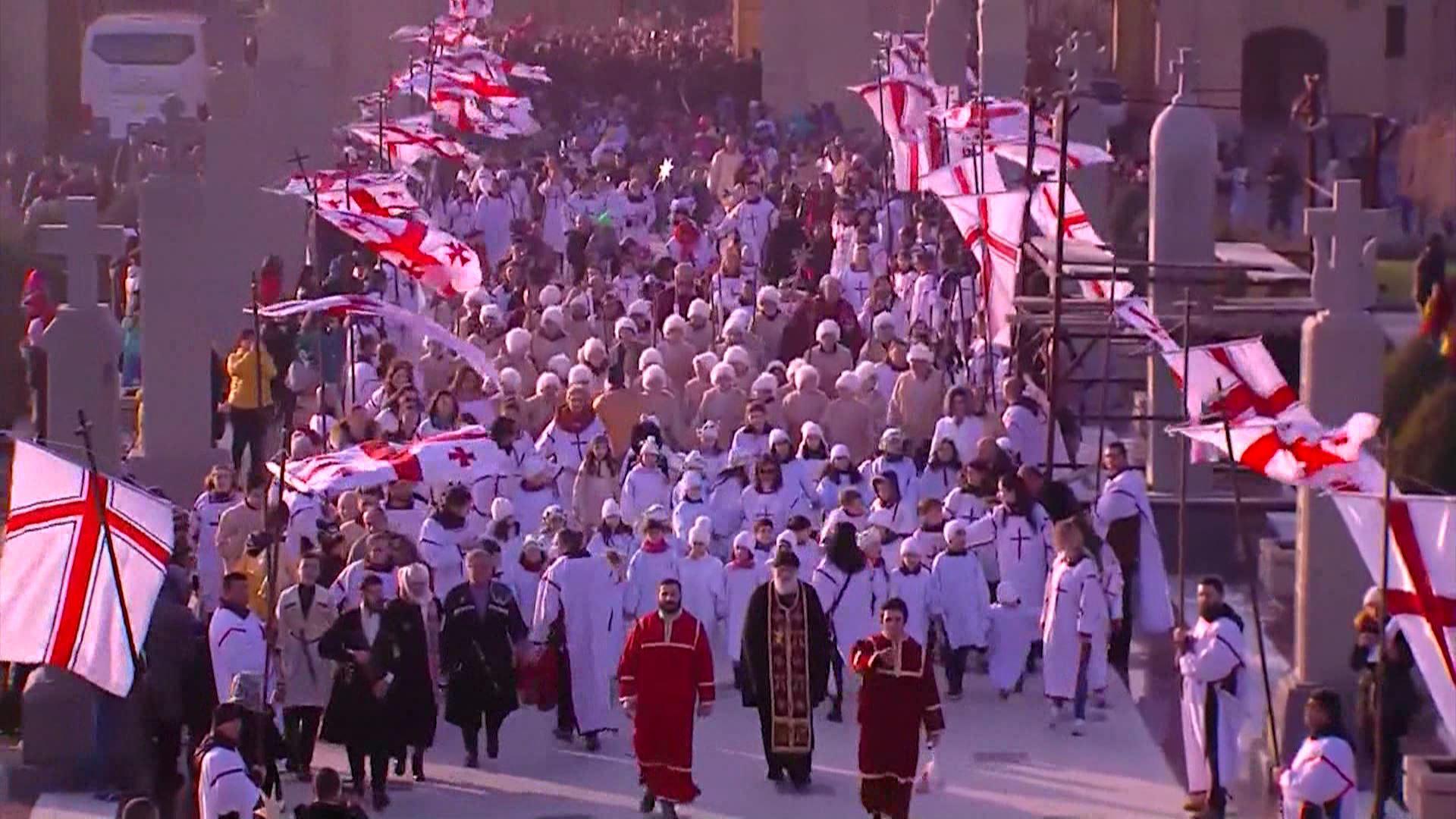 შობის დღესასწაულთან დაკავშირებით, ტრადიციული ალილო მოეწყობა დედაქალაქში