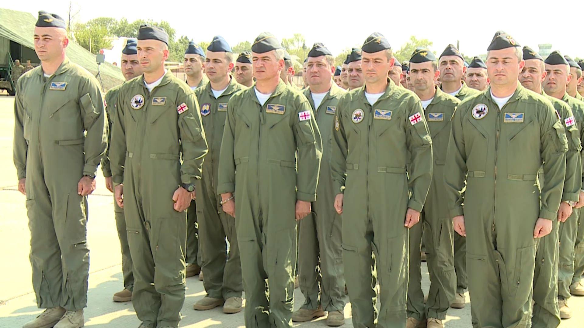 ალექსეევკას სამხედრო აეროდრომზე ქართული ავიაციის დღე აღინიშნა