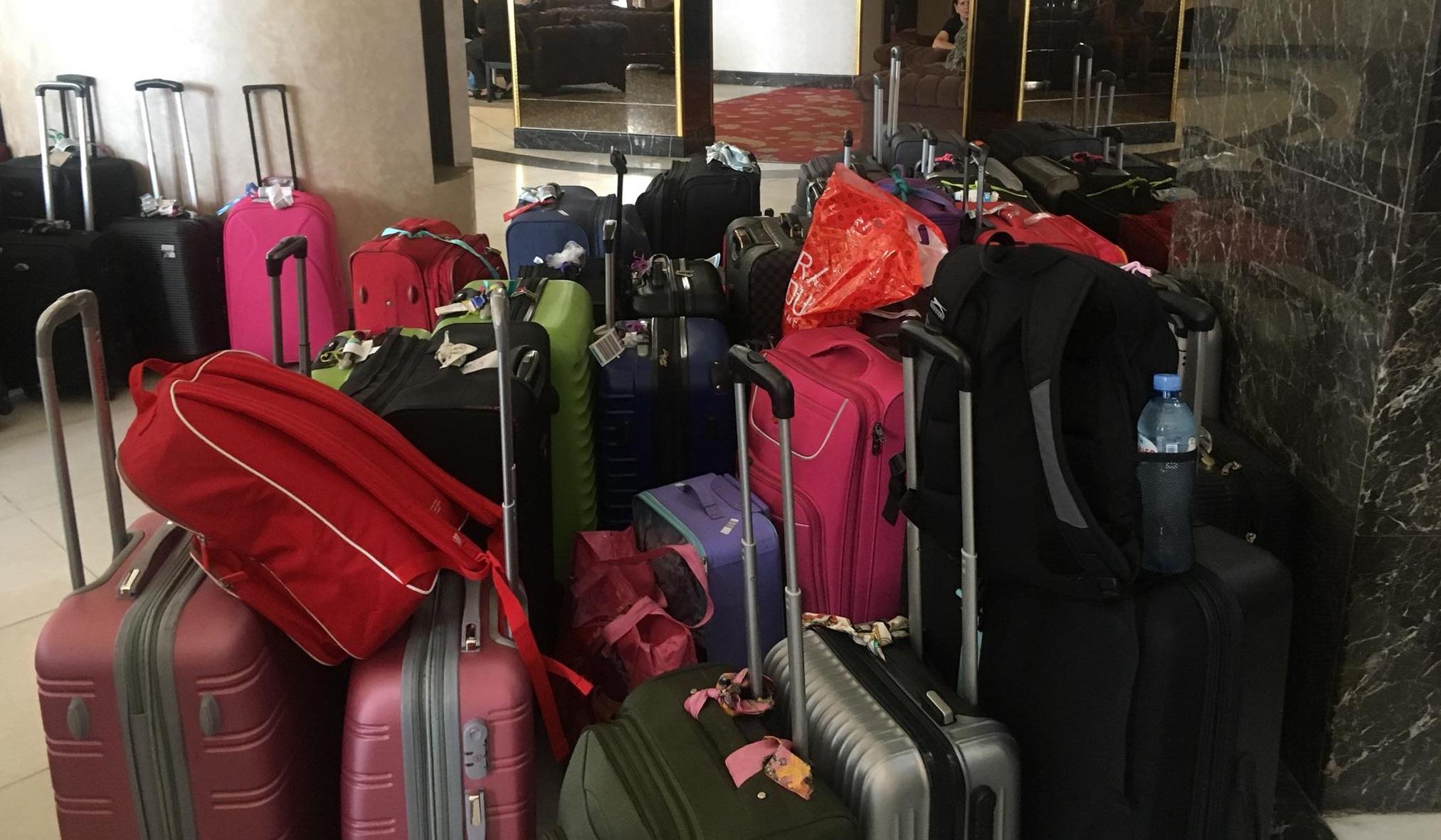 სასტუმრო ველმონდს ტურისტები ტოვებენ