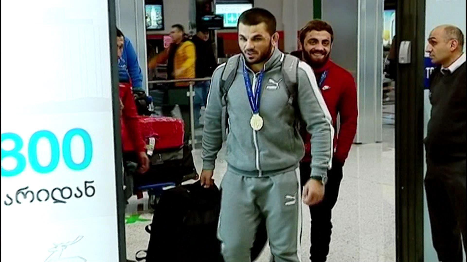 Georgian Wrestlers Return from World Championship with three Gold and one Bronze Medal
