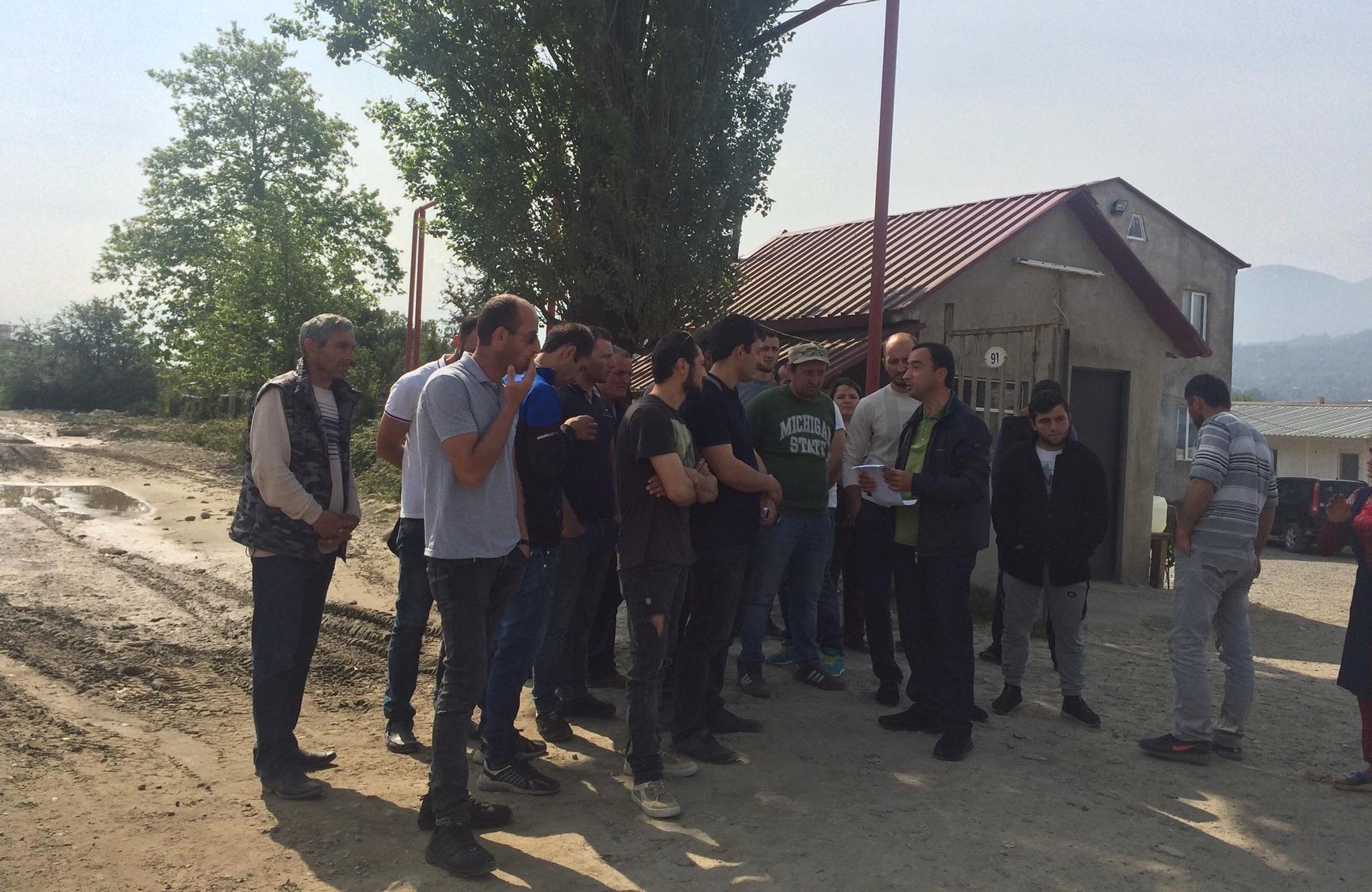 თურქულ კომპანიაში დასაქმებულები გაიფიცნენ
