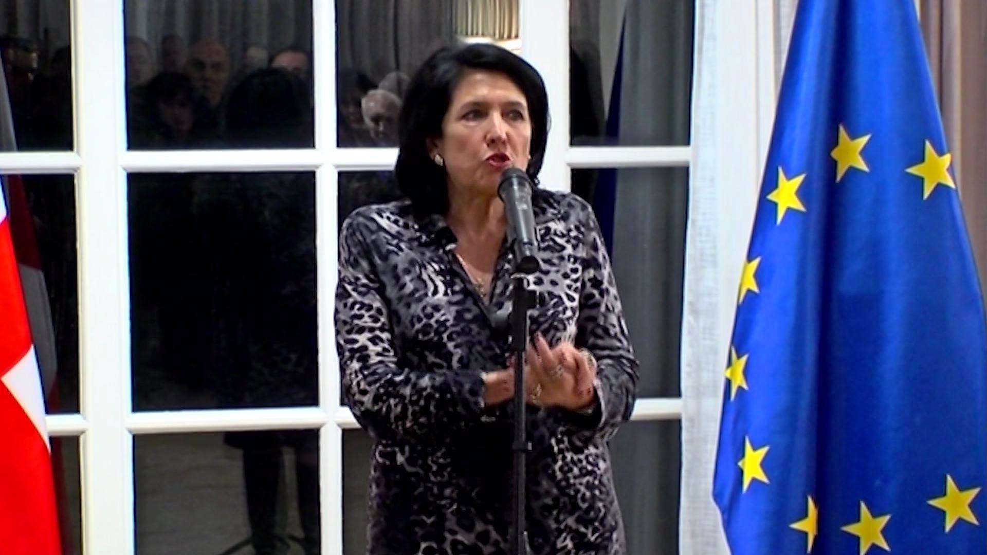 The President of Georgia met with Georgian Diaspora in Belgium