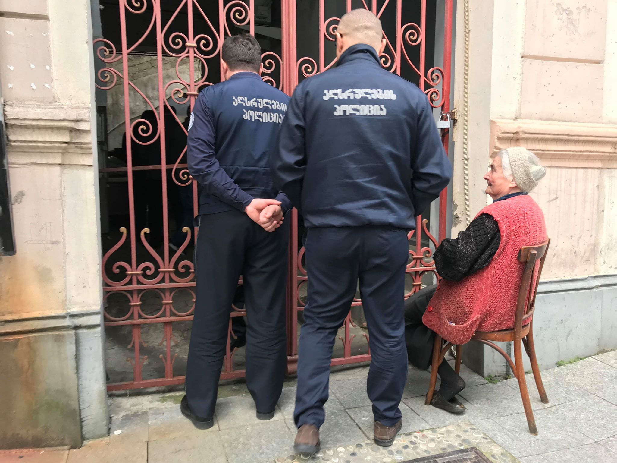 An 82-year-old woman was forced to leave her home