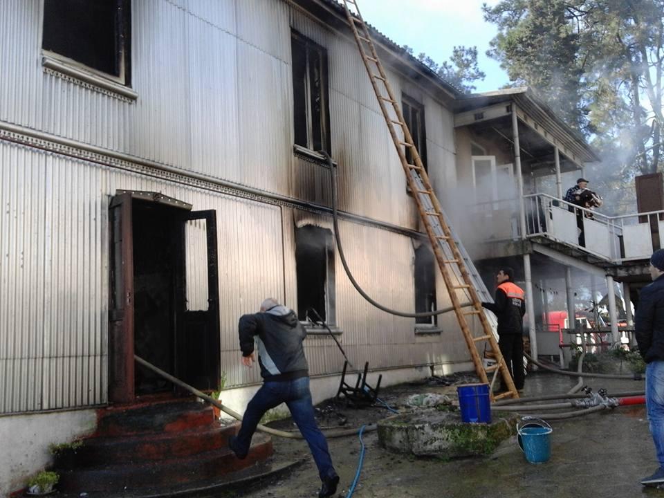 A fire broke out in Kakaladze's 6-member family's house in Kobuleti