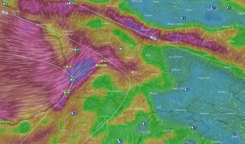 18:00-დან 20:00 საათის შუალედში მოსალოდნელია ქარიშხალი