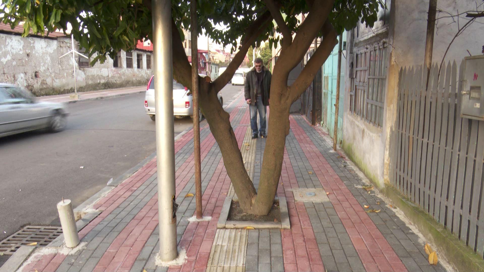 ახალრეაბილიტირებული სულაბერიძის ქუჩის პრობლემები