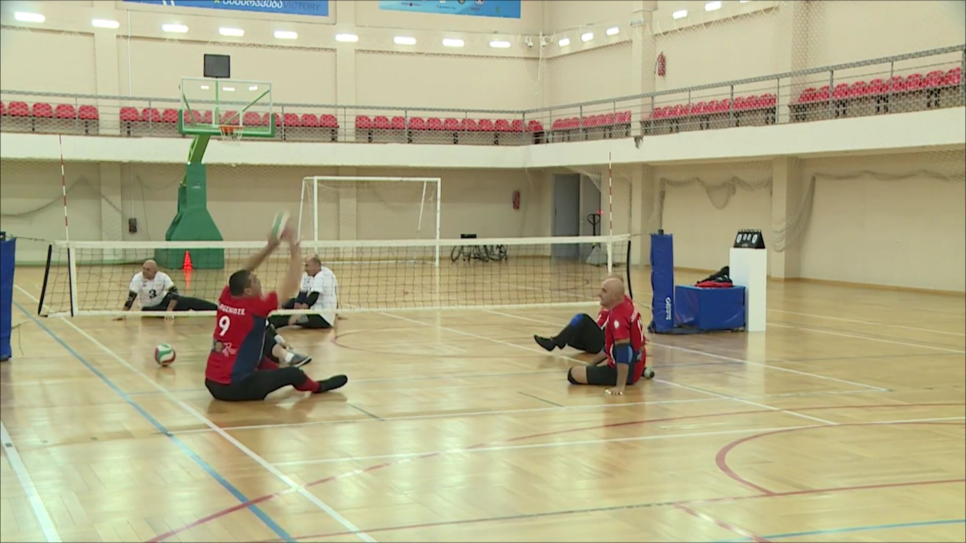 The seated volleyball team will take part in