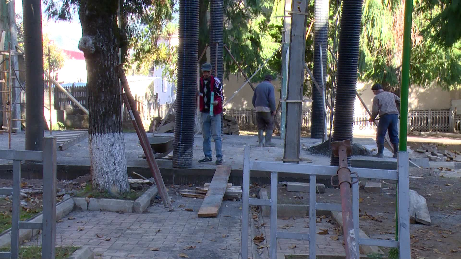 The construction of the club for veterans started in the 9 April park in the village of Khulo