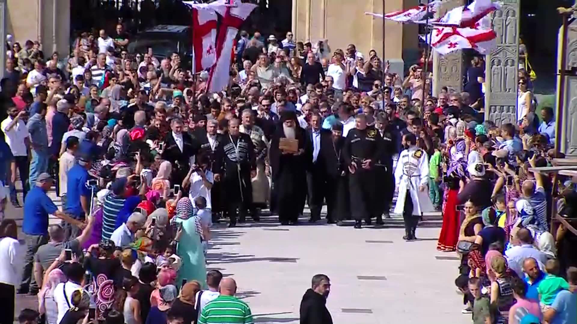 ქეთევან დედოფლის წმინდა ნაწილები სამების საკათედრო ტაძარშია დასვენებული