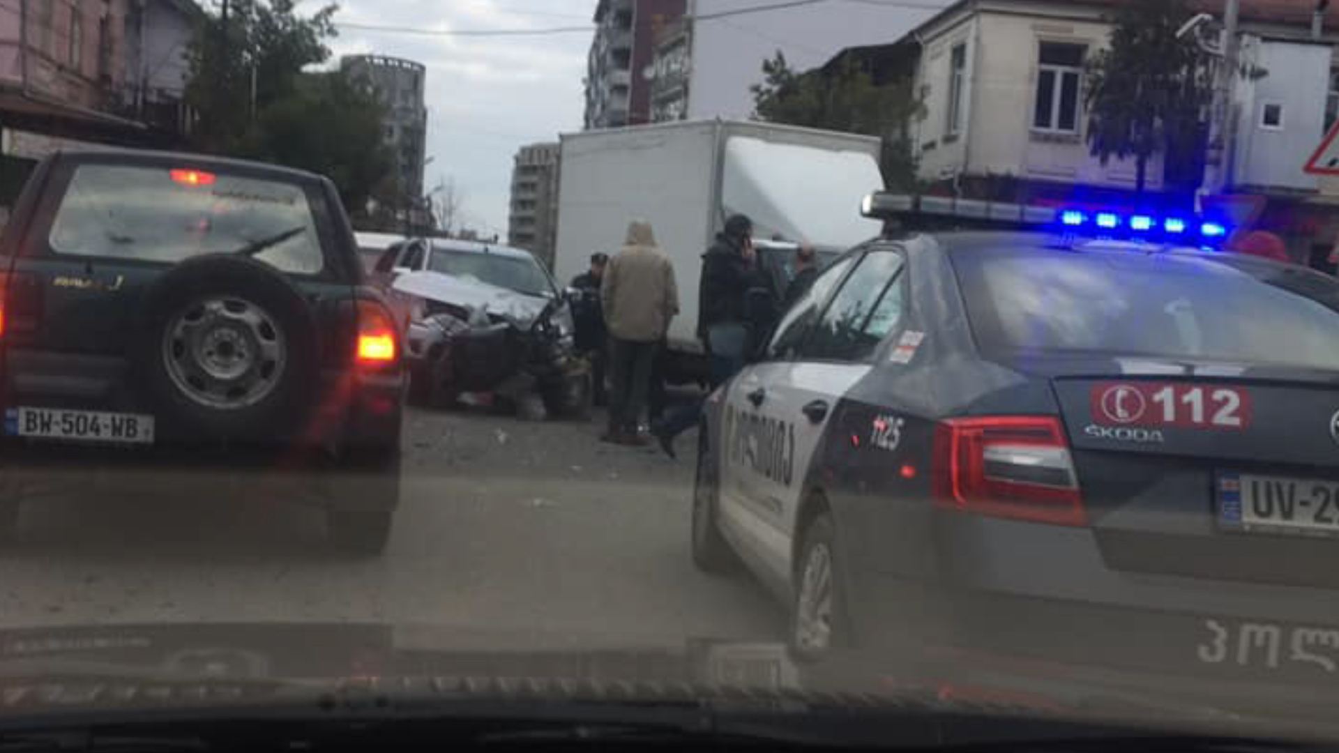 ბათუმში, პუშკინისა და ჯაფარიძის ქუჩების კვეთაში, ავარია მოხდა