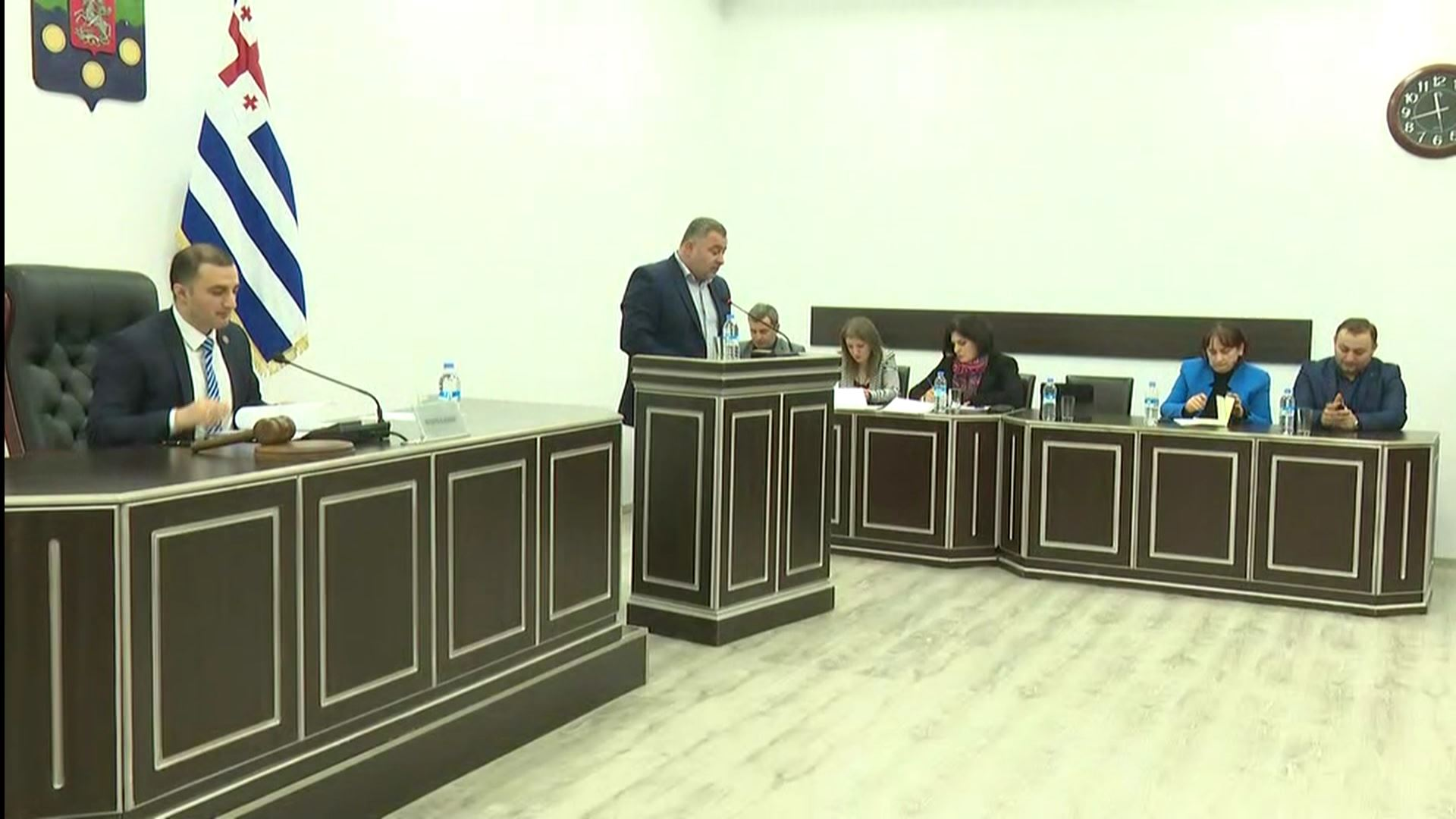Discussion on the issue of termination the authority for Zaza Okuashvili