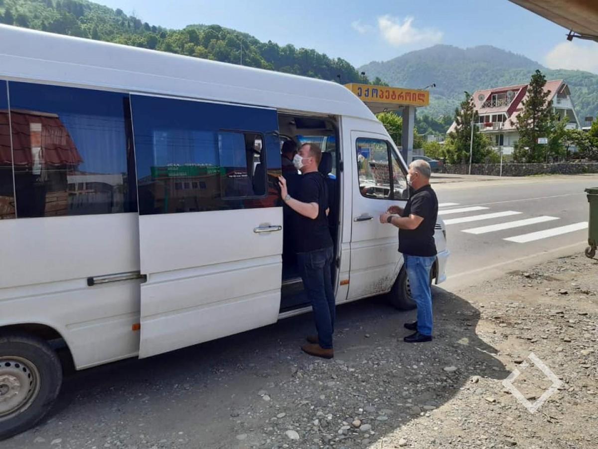ბათუმში, 5 დღეში 549 პირს პირბადის გარეშე მგზავრობისთვის საზოგადოებრივი ტრანსპორტი დაატოვებინეს